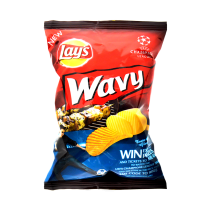 Lay's Wavy Potato Chips, Barbeque, 30g