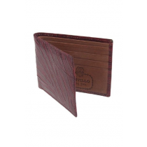 Red Alligator Print Cow Leather Wallet